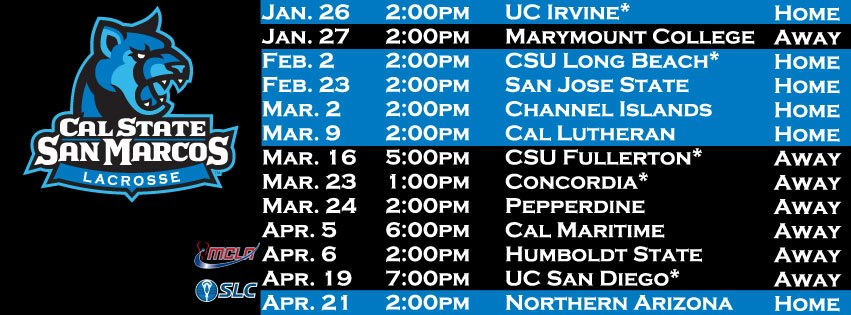 Cougars Announce 2013 Schedule